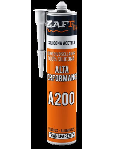 SILICONA ACÉTICA ALTA PERFORMANCE A200 TRANSPARENTE | 280CM3 Por unidad