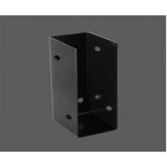 """Caja de fijación aleta interior con agujero lateral - Acero 1.40 mm - 2"""" x 4"""" - Por unidad (empaque 10 u.)"""