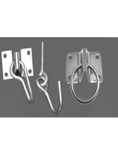Ganchos para hamaca acero 1 6 mm 6 con argolla por empaque empaque 20 u - Ganchos para hamacas ...