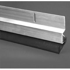 Zócalo de aluminio para puertas - Aluminio 100 cm - Por unidad