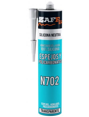 Silicona Neutra Para Espejos y Policarbonatos N702 Transparente Por 280Cm3. Por unidad